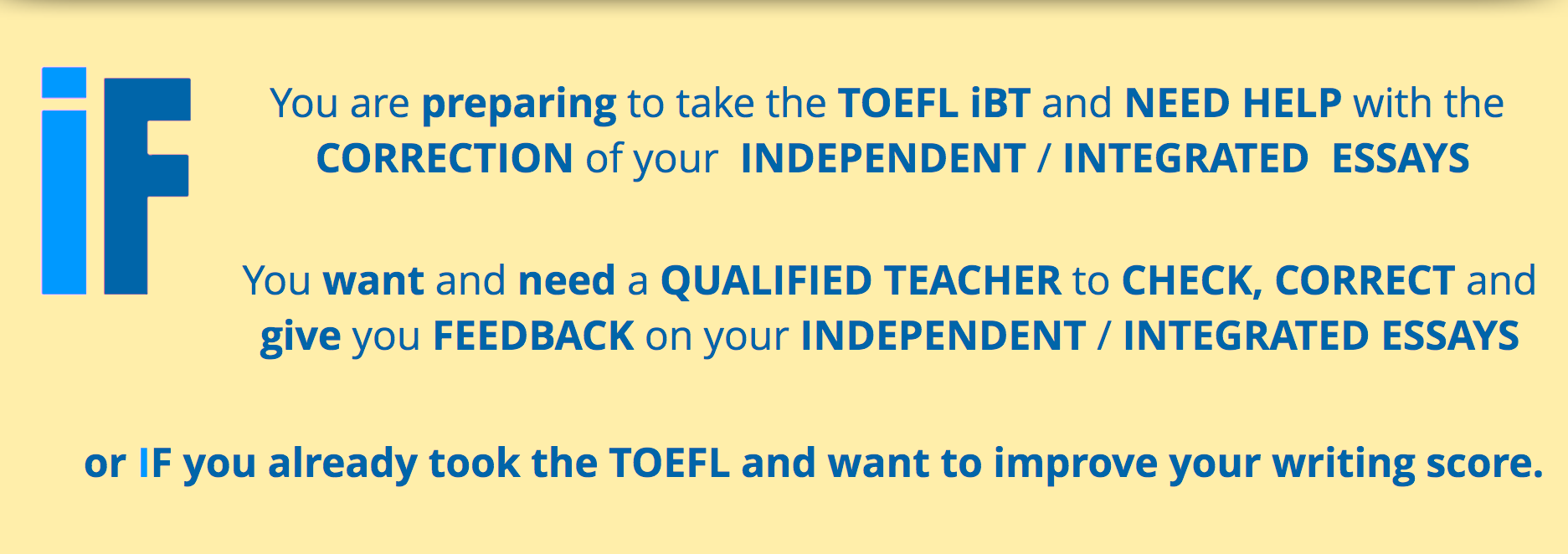 check my toefl essay We explain how to send toefl  6 simple steps to sending your toefl scores to schools  want more information on how the toefl is scored check out our guide to.
